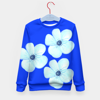 Thumbnail image of Cornflower Blue Watercolor Flower Floral - DESIGN -  Kid's Sweater, Live Heroes