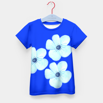 Thumbnail image of Cornflower Blue Watercolor Flower Floral - DESIGN -  Kid's T-shirt, Live Heroes