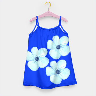 Thumbnail image of Cornflower Blue Watercolor Flower Floral - DESIGN -  Girl's Dress, Live Heroes