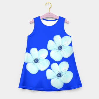 Thumbnail image of Cornflower Blue Watercolor Flower Floral - DESIGN -  Girl's Summer Dress, Live Heroes
