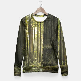 Thumbnail image of Into the woods Fitted Waist Sweater, Live Heroes