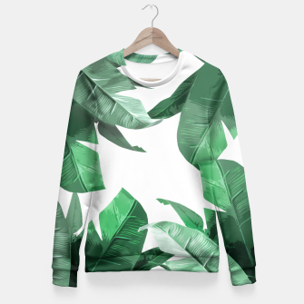 Thumbnail image of Tropical Palm Fitted Waist Sweater, Live Heroes