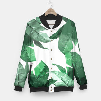 Thumbnail image of Tropical Palm Baseball Jacket, Live Heroes