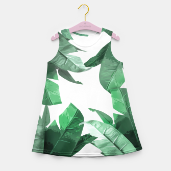 Thumbnail image of Tropical Palm Girl's Summer Dress, Live Heroes