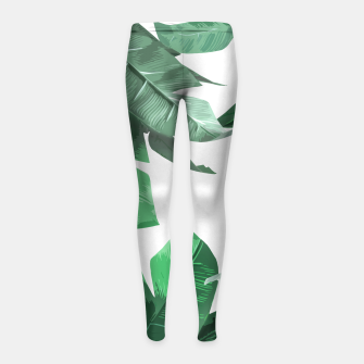 Thumbnail image of Tropical Palm Girl's Leggings, Live Heroes