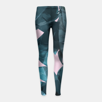 Thumbnail image of Tropical Palm #2 Girl's Leggings, Live Heroes