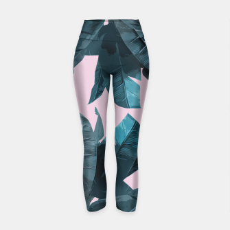 Thumbnail image of Tropical Palm #2 Yoga Pants, Live Heroes