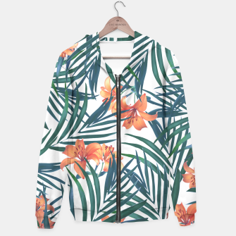 Thumbnail image of Tropical Lilies Hoodie, Live Heroes