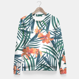 Tropical Lilies Fitted Waist Sweater thumbnail image