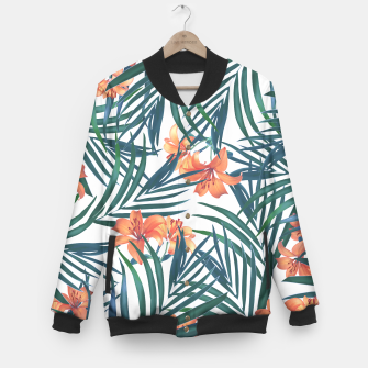 Thumbnail image of Tropical Lilies Baseball Jacket, Live Heroes