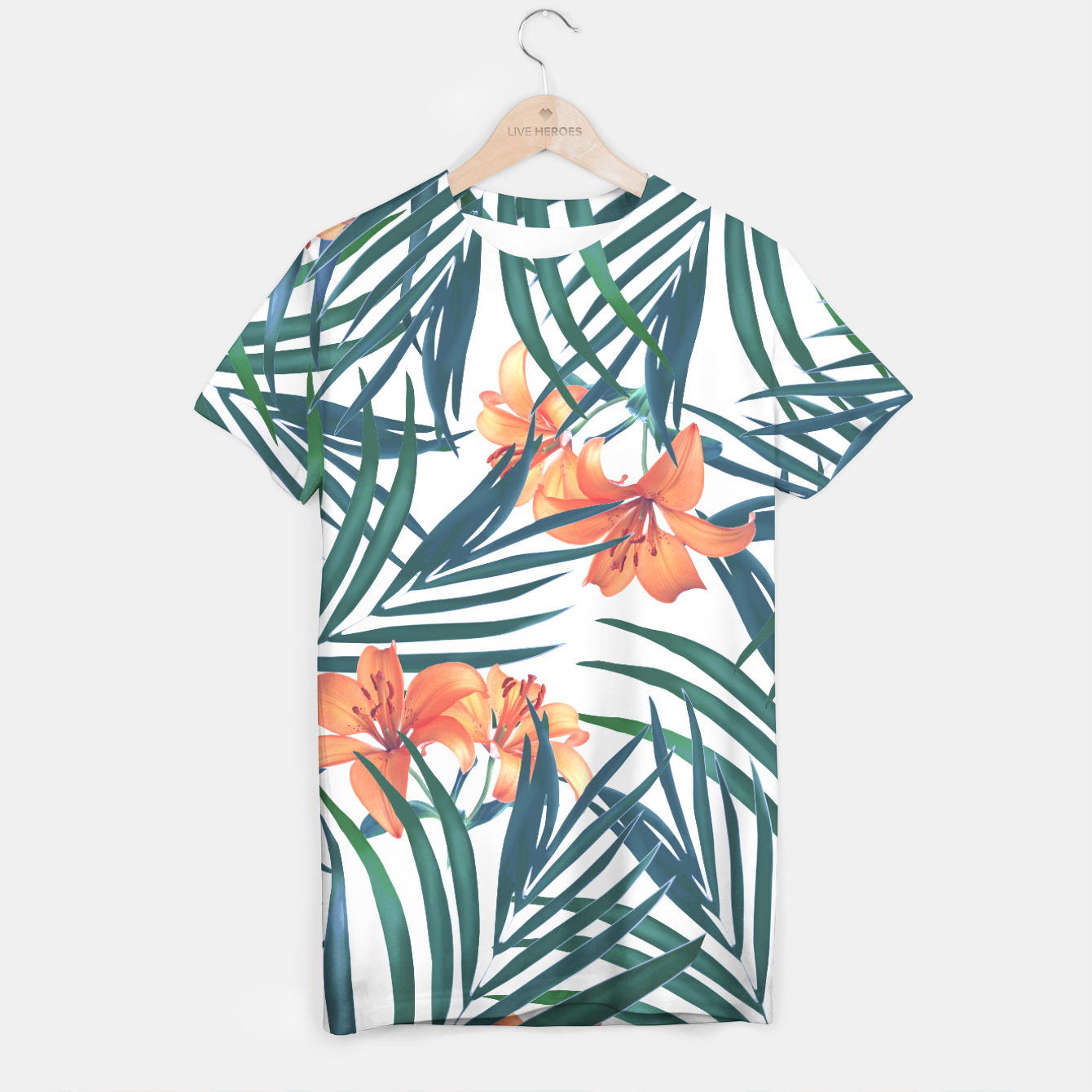 Image of Tropical Lilies T-shirt - Live Heroes