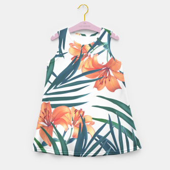 Tropical Lilies Girl's Summer Dress thumbnail image