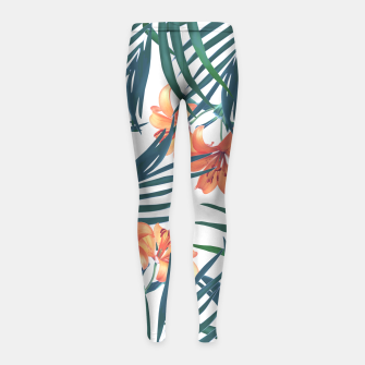 Thumbnail image of Tropical Lilies Girl's Leggings, Live Heroes