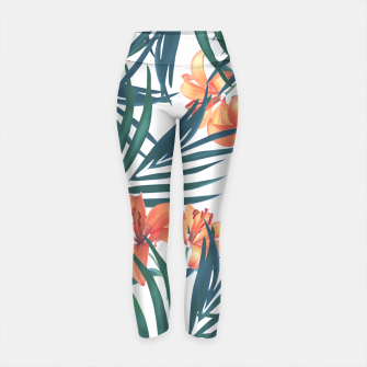 Thumbnail image of Tropical Lilies Yoga Pants, Live Heroes