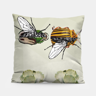 Thumbnail image of BEETLES AND FLIES Pillow, Live Heroes