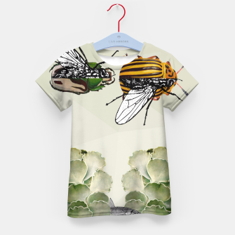 Thumbnail image of BEETLES AND FLIES Kid's T-shirt, Live Heroes