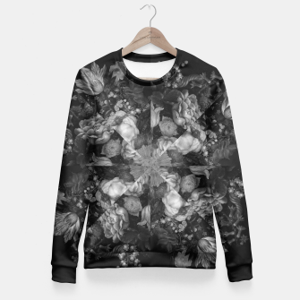 Thumbnail image of Botanical Darkness Kaleidoscope Fitted Waist Sweater, Live Heroes