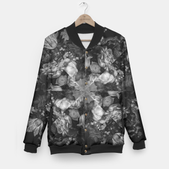 Thumbnail image of Botanical Darkness Kaleidoscope Baseball Jacket, Live Heroes