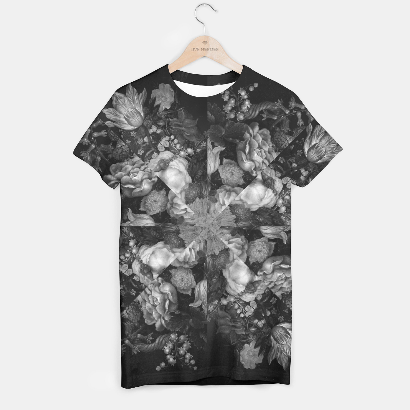 Image of Botanical Darkness Kaleidoscope T-shirt - Live Heroes