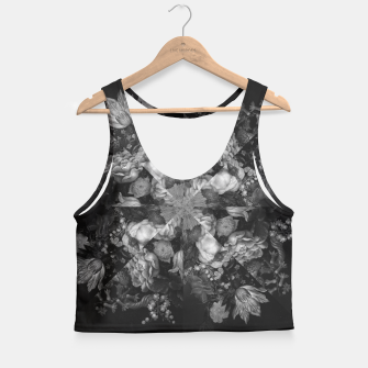 Thumbnail image of Botanical Darkness Kaleidoscope Crop Top, Live Heroes