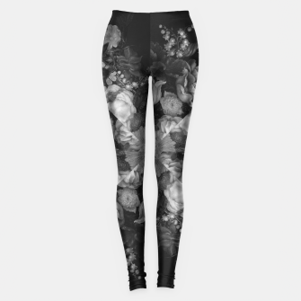 Thumbnail image of Botanical Darkness Kaleidoscope Leggings, Live Heroes