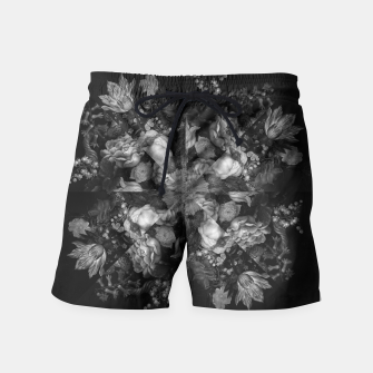 Botanical Darkness Kaleidoscope Swim Shorts thumbnail image