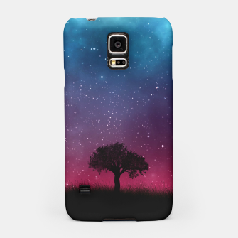 Miniatur Galaxy Cosmos Sky - Black Tree - Blue Pink Scenery Samsung Case, Live Heroes
