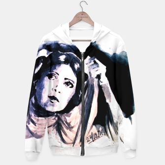 Thumbnail image of Princess starwar Carrie Fisher tribute Hoodie, Live Heroes