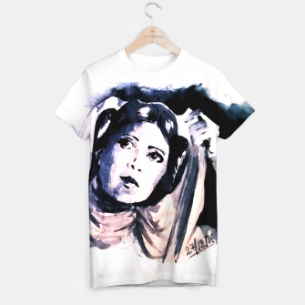 Thumbnail image of Princess starwar Carrie Fisher tribute T-shirt, Live Heroes