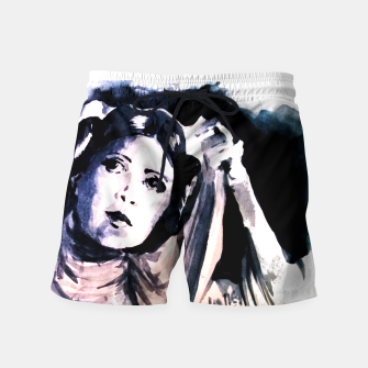 Thumbnail image of Princess starwar Carrie Fisher tribute Swim Shorts, Live Heroes