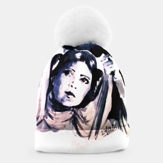 Thumbnail image of Princess starwar Carrie Fisher tribute Beanie, Live Heroes