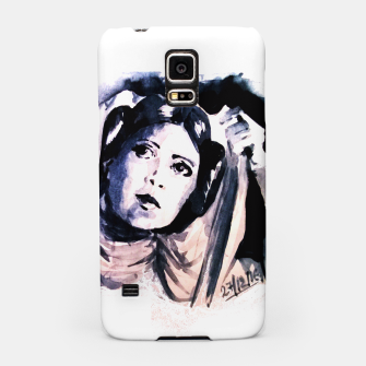 Thumbnail image of Princess starwar Carrie Fisher tribute Samsung Case, Live Heroes