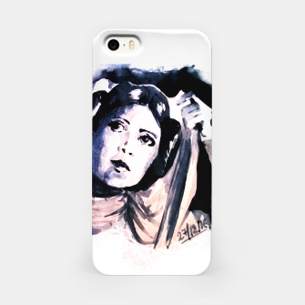 Thumbnail image of Princess starwar Carrie Fisher tribute iPhone Case, Live Heroes
