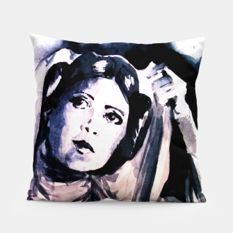 Thumbnail image of Princess starwar Carrie Fisher tribute Pillow, Live Heroes