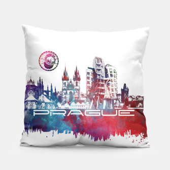 Thumbnail image of Prague skyline Pillow, Live Heroes