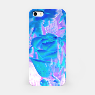 Thumbnail image of Rosa Azul Defeituosa iPhone Case, Live Heroes