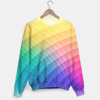 Spectrum Bomb! Fruity Fresh (HDR Rainbow Colorful Experimental Pattern) Sweater miniature