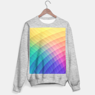 Spectrum Bomb! Fruity Fresh (HDR Rainbow Colorful Experimental Pattern) Sweater regular miniature