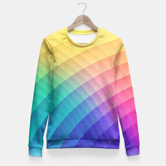 Thumbnail image of Spectrum Bomb! Fruity Fresh (HDR Rainbow Colorful Experimental Pattern) Fitted Waist Sweater, Live Heroes