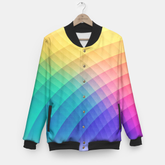 Miniaturka Spectrum Bomb! Fruity Fresh (HDR Rainbow Colorful Experimental Pattern) Baseball Jacket, Live Heroes