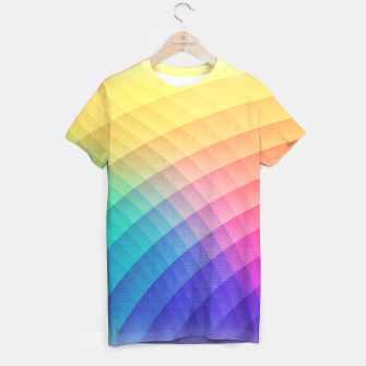 Spectrum Bomb! Fruity Fresh (HDR Rainbow Colorful Experimental Pattern) T-shirt miniature