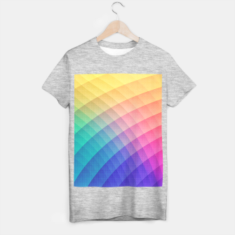 Spectrum Bomb! Fruity Fresh (HDR Rainbow Colorful Experimental Pattern) T-shirt regular miniature
