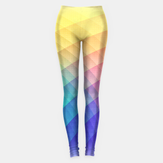 Thumbnail image of Spectrum Bomb! Fruity Fresh (HDR Rainbow Colorful Experimental Pattern) Leggings, Live Heroes
