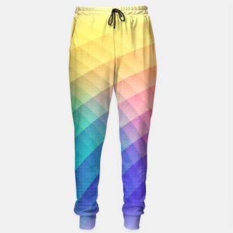 Spectrum Bomb! Fruity Fresh (HDR Rainbow Colorful Experimental Pattern) Sweatpants miniature