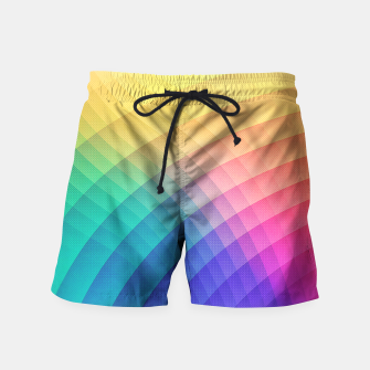 Thumbnail image of Spectrum Bomb! Fruity Fresh (HDR Rainbow Colorful Experimental Pattern) Swim Shorts, Live Heroes