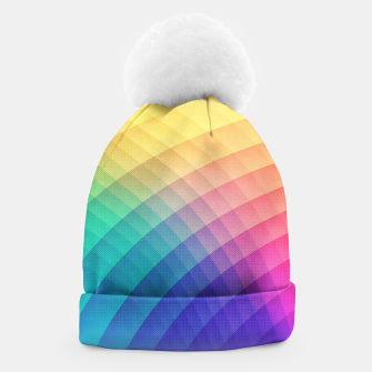 Spectrum Bomb! Fruity Fresh (HDR Rainbow Colorful Experimental Pattern) Beanie miniature