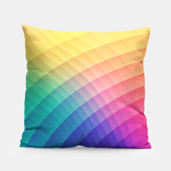 Thumbnail image of Spectrum Bomb! Fruity Fresh (HDR Rainbow Colorful Experimental Pattern) Pillow, Live Heroes