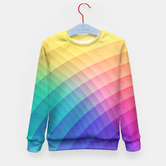 Thumbnail image of Spectrum Bomb! Fruity Fresh (HDR Rainbow Colorful Experimental Pattern) Kid's Sweater, Live Heroes