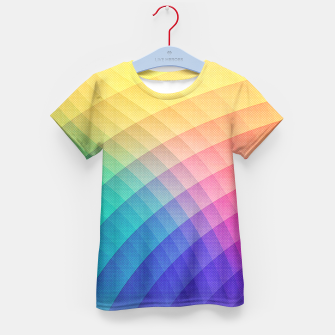 Spectrum Bomb! Fruity Fresh (HDR Rainbow Colorful Experimental Pattern) Kid's T-shirt miniature