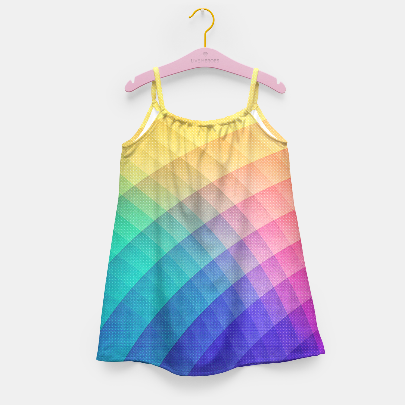 Image de Spectrum Bomb! Fruity Fresh (HDR Rainbow Colorful Experimental Pattern) Girl's Dress - Live Heroes